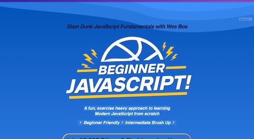 Screenshot for the Beginner JavaScript website