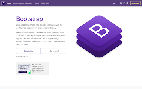 Screenshot for the Bootstrap website