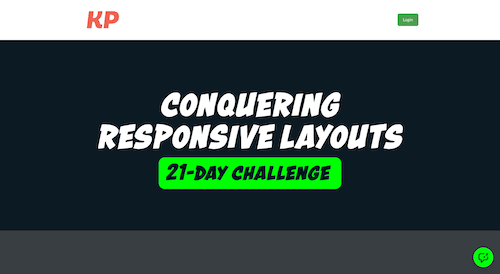 Screenshot for the Conquering Responsive Layouts website