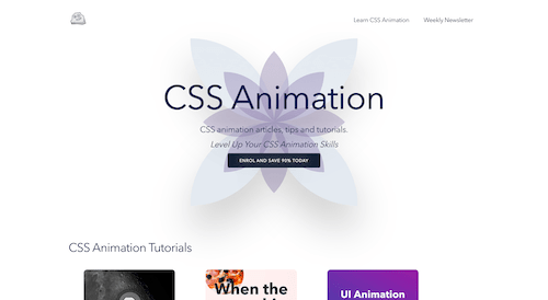 Screenshot for the CSS Animation website