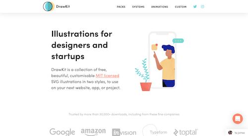 Screenshot for the DrawKit website