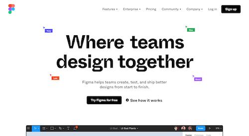 Screenshot for the Figma website
