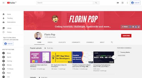 Screenshot for the Florin Pop website