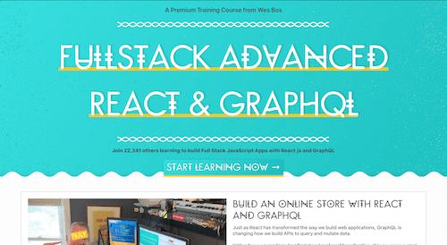 Screenshot for the Advanced React & GraphQL website