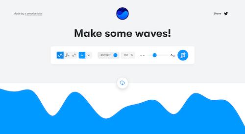 Screenshot for the Get Waves website