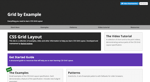 Screenshot for the Grid by Example website