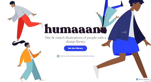 Screenshot for the humaaans website