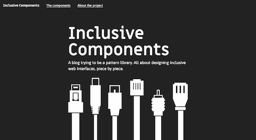 Screenshot for the Inclusive Components website