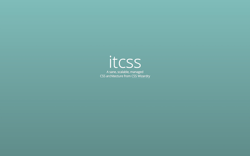 Screenshot for the ITCSS website