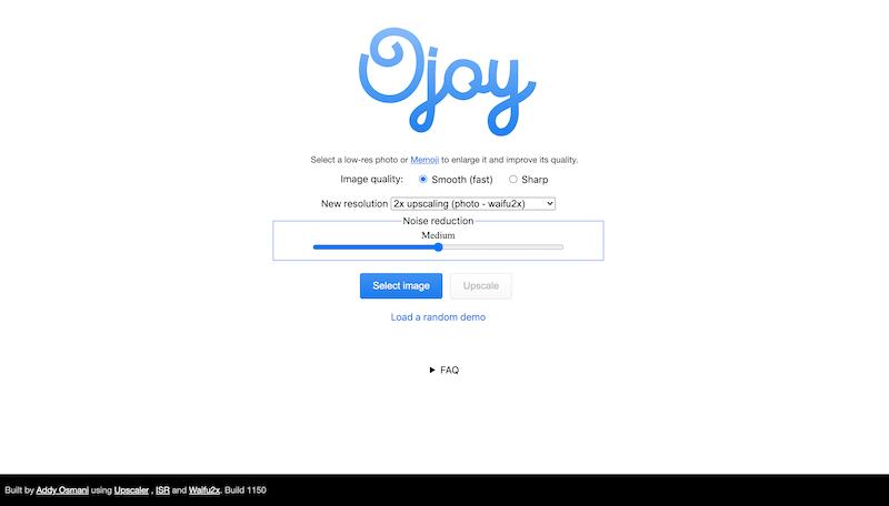 Screenshot for the Ojoy website