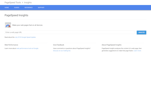 Screenshot for the Google Pagespeed website