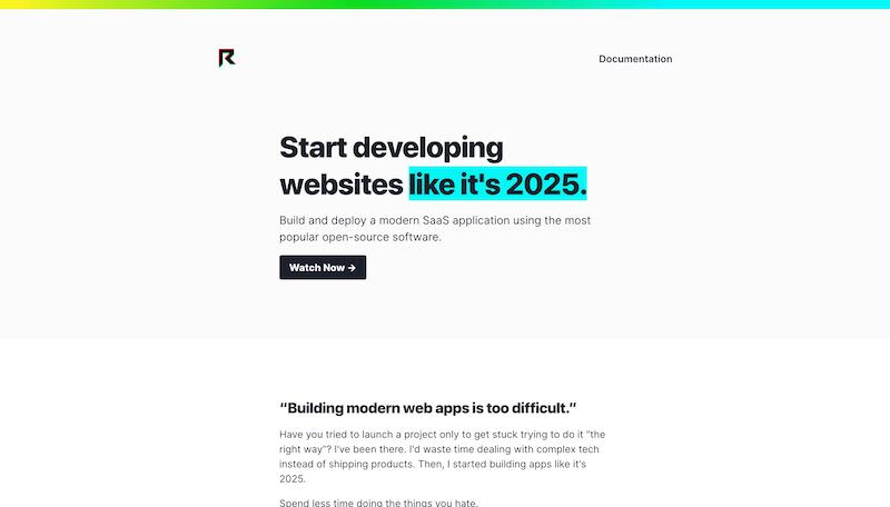 Screenshot for the React 2025 website