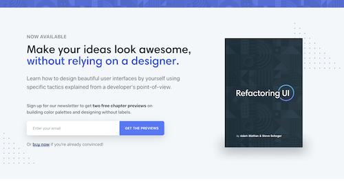 Screenshot for the Refactoring UI Book website