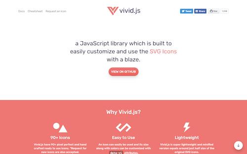 Screenshot for the Vivid.js website