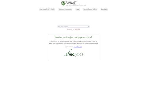 Screenshot for the Wave website